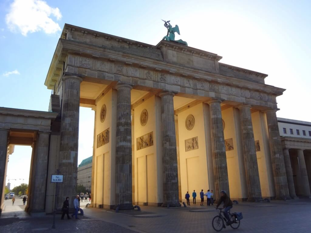 Brandenburger Tor as it is known in Germany, site of the former city gate.