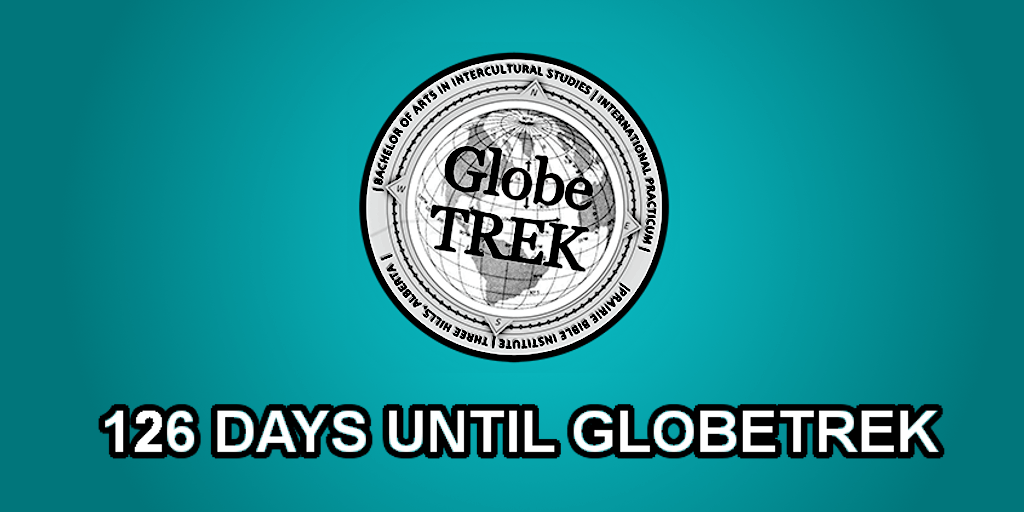 The days left until I leave for GlobeTrek